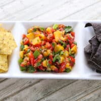 Cherry tomato & Peach salsa1
