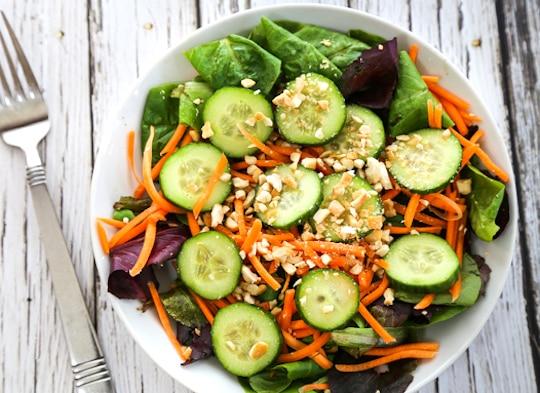Greens and cucumber salad