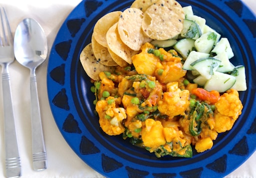 Quick and easy Vegetables masala dinner
