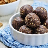 Vegan dried fruit and walnut energy balls