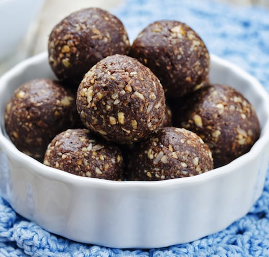 Dried fruit and walnut energy balls