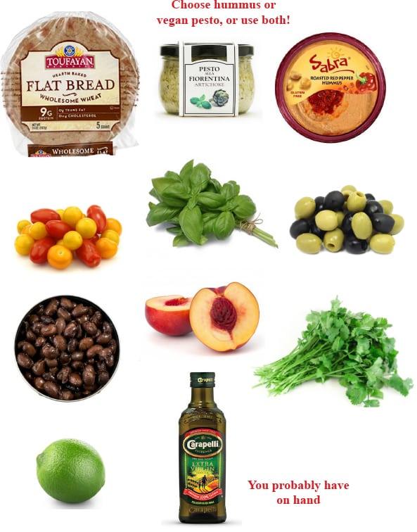 Flatbread dinner ingredients