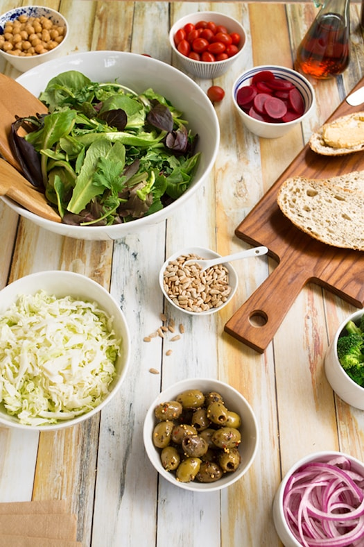 Create a salad bar at home