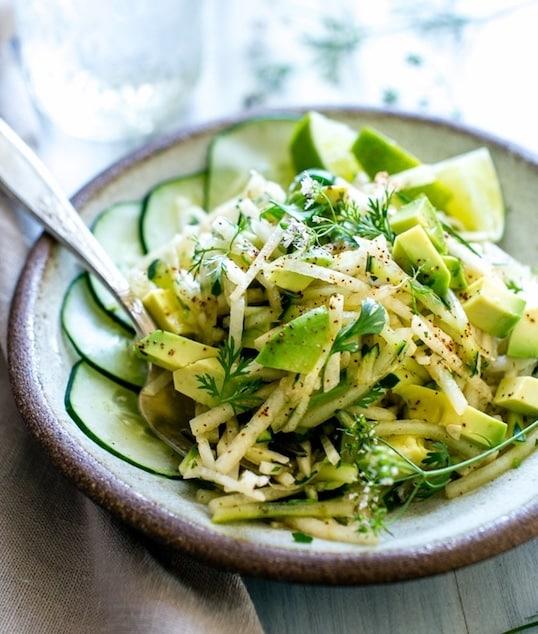 Avocado Jicama Cucumber Salad