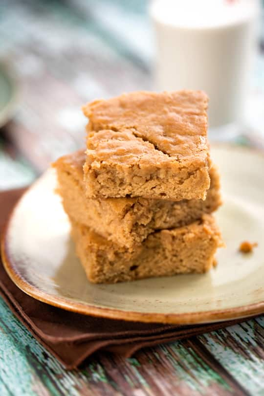 Vegan Butterscotch Blondies