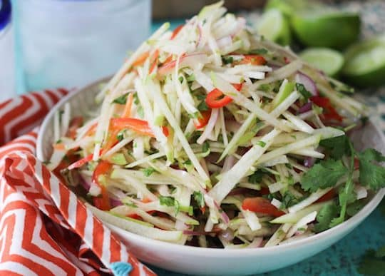 Jicama and apple slaw by PaleOMG