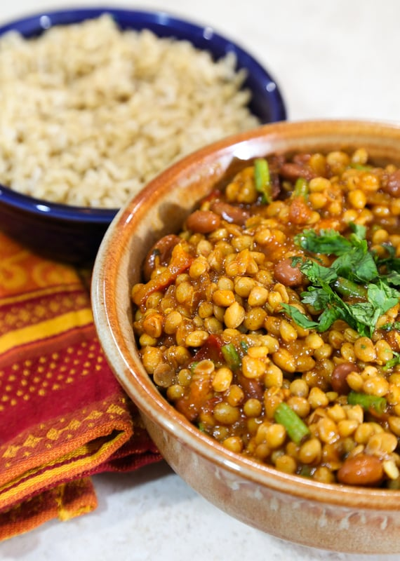 Lentil and Kidney bean curry recipe