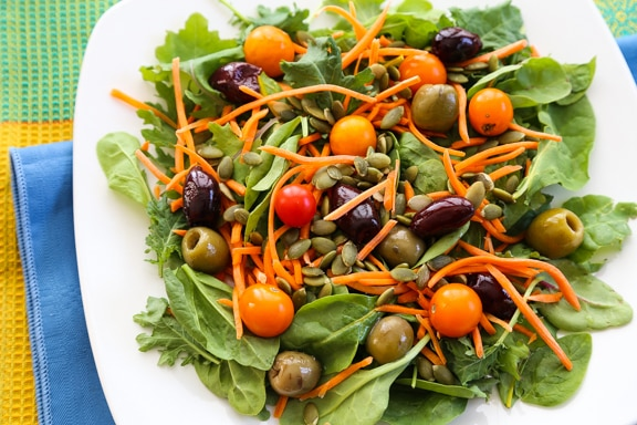 No-chop power greens salad