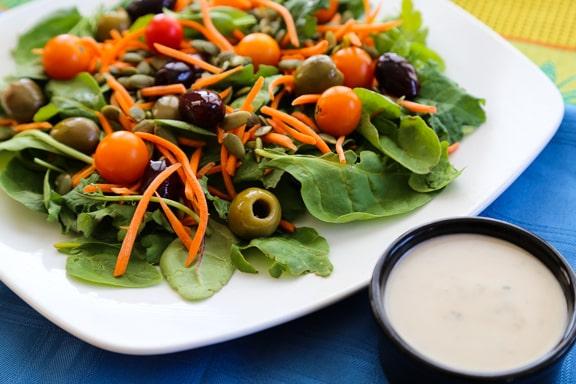 No-chop power greens salad recipe