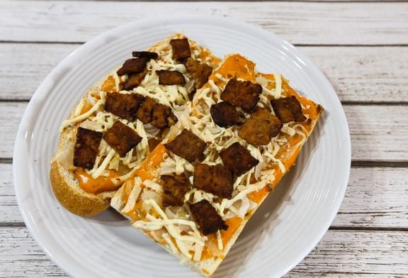 Tempeh reuben hero sandwich