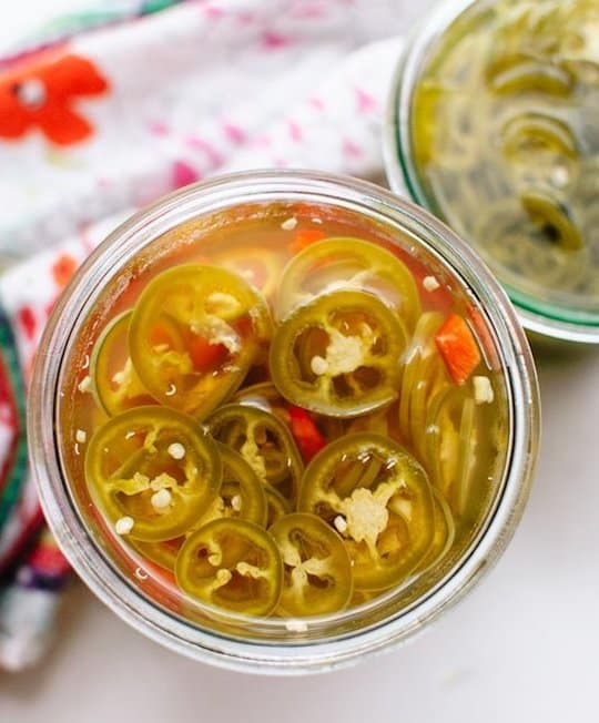 Quick Pickled Jalapenos and Bell Peppers from Cookie and Karte