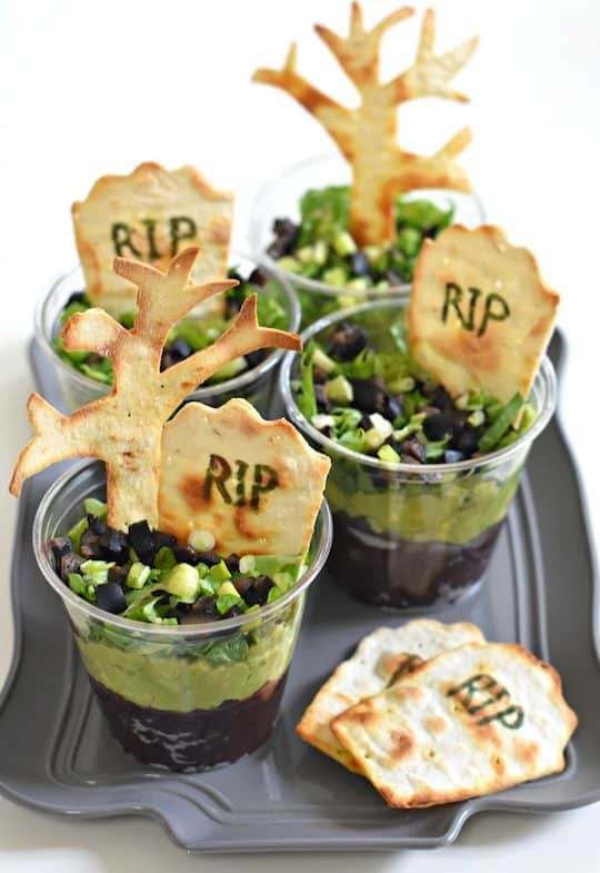 Graveyard Taco Cups from Forks and Beans