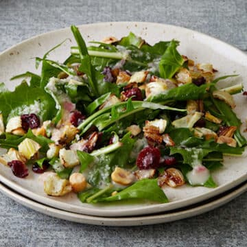 Roasted Fennel & Hazelnut Salad with Shallot Dressing from Veganomicon