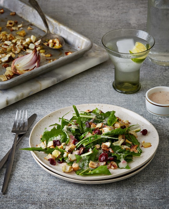 Roasted Fennel & Hazelnut Salad with Shallot Dressing by Isa Moskowitz & Terry Romero
