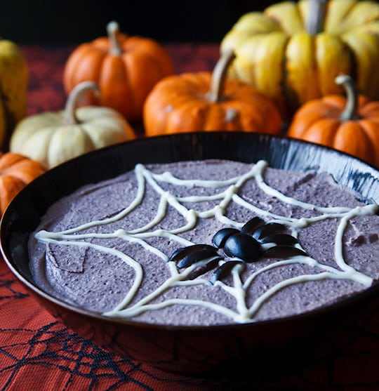 Spooky Black Bean Hummus from Fat-Free Vegan Kitchen