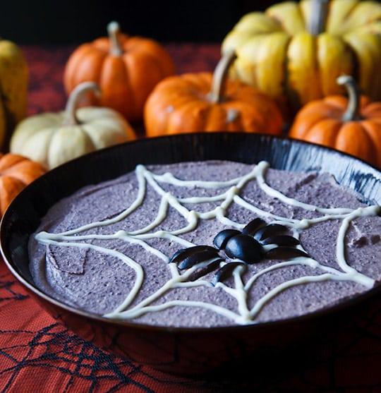 Spooky Black Bean Hummus from Fat-Free Vegan Kitchen