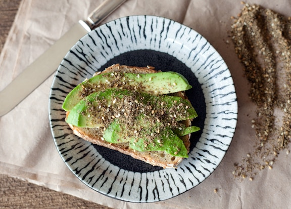 Middle Eastern Avocado Toast from The EdgyVeg