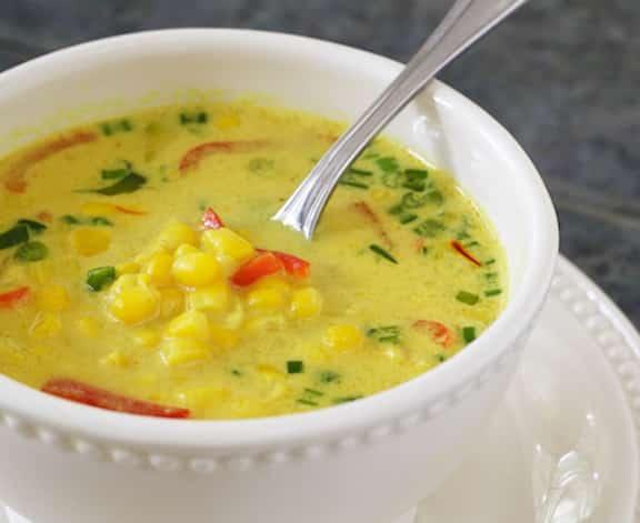 Thai coconut-corn soup