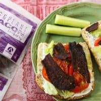 Eggplant bacon sandwiches