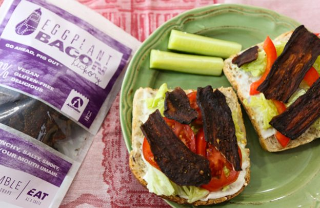 Eggplant bacon sandwiches