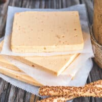 Vegan American Cheese Slices from Vegan Cheese by Jules Aron
