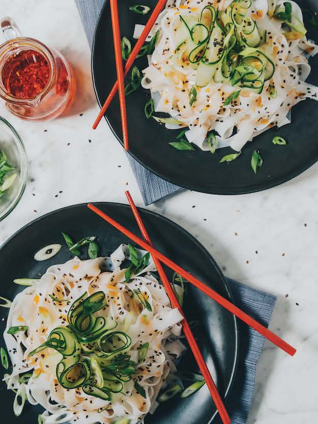 Cold Cucumber Chile Noodles from Hot for Food by Lauren toyota