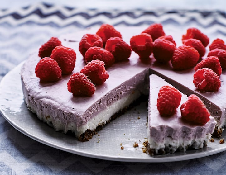 Vanilla Raspberry Vegan Cheesecake