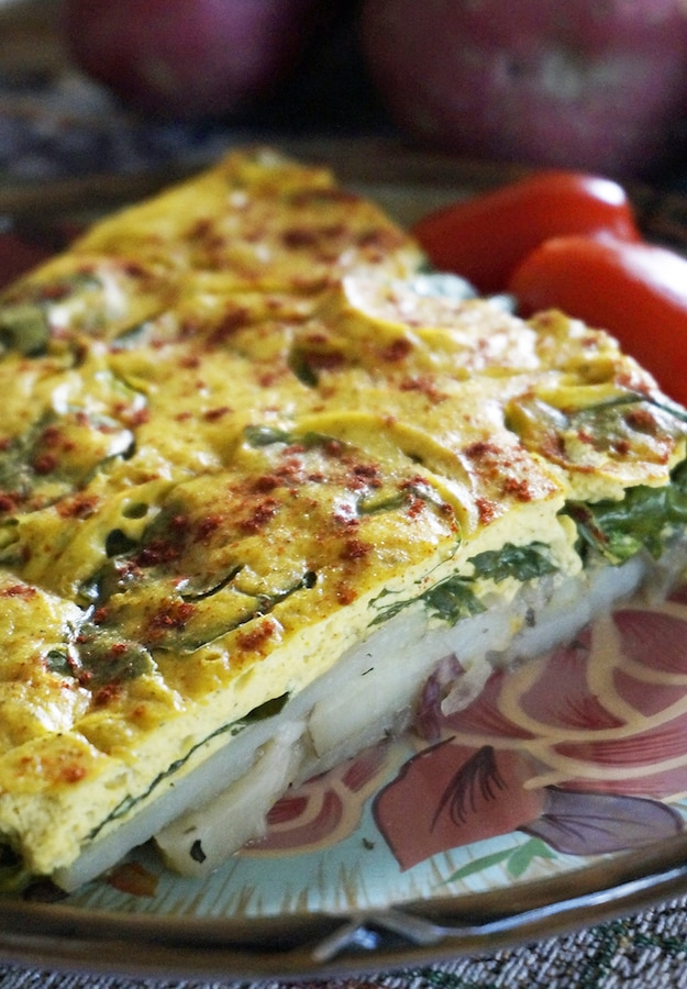 Vegan Potato and Spinach Frittata