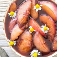 poached nectarines from Plantpower Way Italia