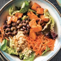 Cumin lime black bean and quinoa bowl
