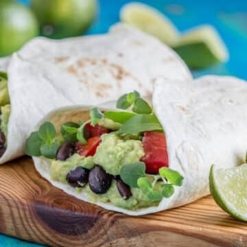 Black Bean and Avocado Wraps