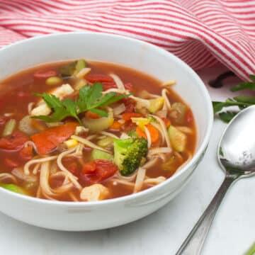 """Vegan """"Vegetable"""" Noodle Soup"""