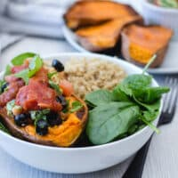 Vegan Mexican Stuffed Sweet Potato