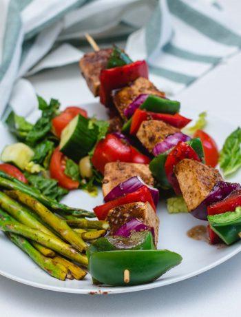Vegan Slouvlaki Tofu Skewers