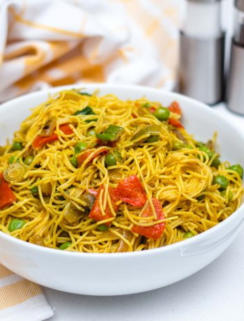 Spicy Vegan Singapore Noodles