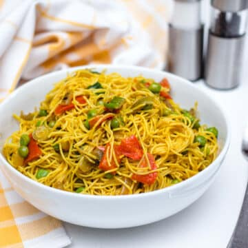 Spicy Vegan Singapore Noodles