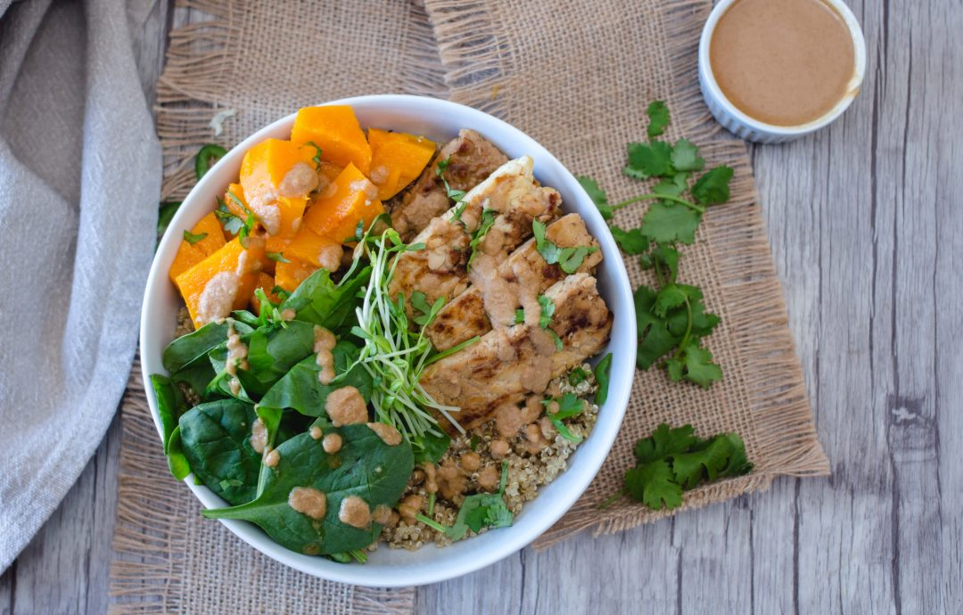 Tempeh Buddha Bowl with Squash