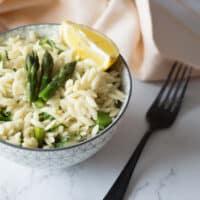 Lemon and Asparagus Orzo Salad