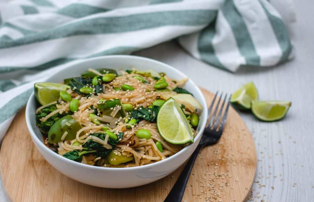 Vegan Green Vegetable Pad Thai