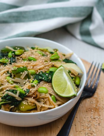 Vegan Green Vegetable Pad Thai