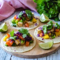 Tofu and Mango Vegan Tacos