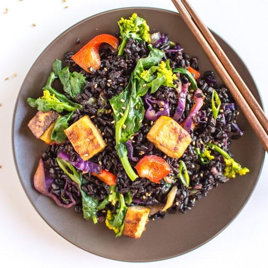Forbidden Rice Stir Fry Teriyaki Tofu FF2