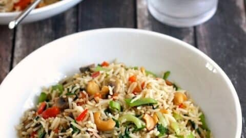 Stir Fried Rice with Vegetables