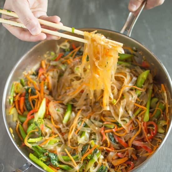 Vegetable Stir Fry Mung Bean Noodles FF1