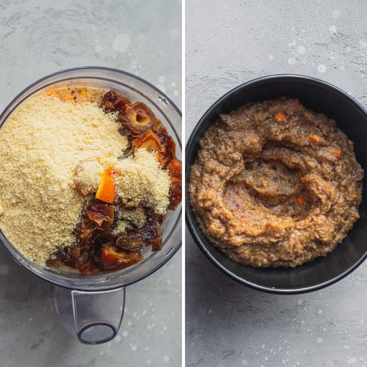 mezclando la masa para el budín de pan de chocolate