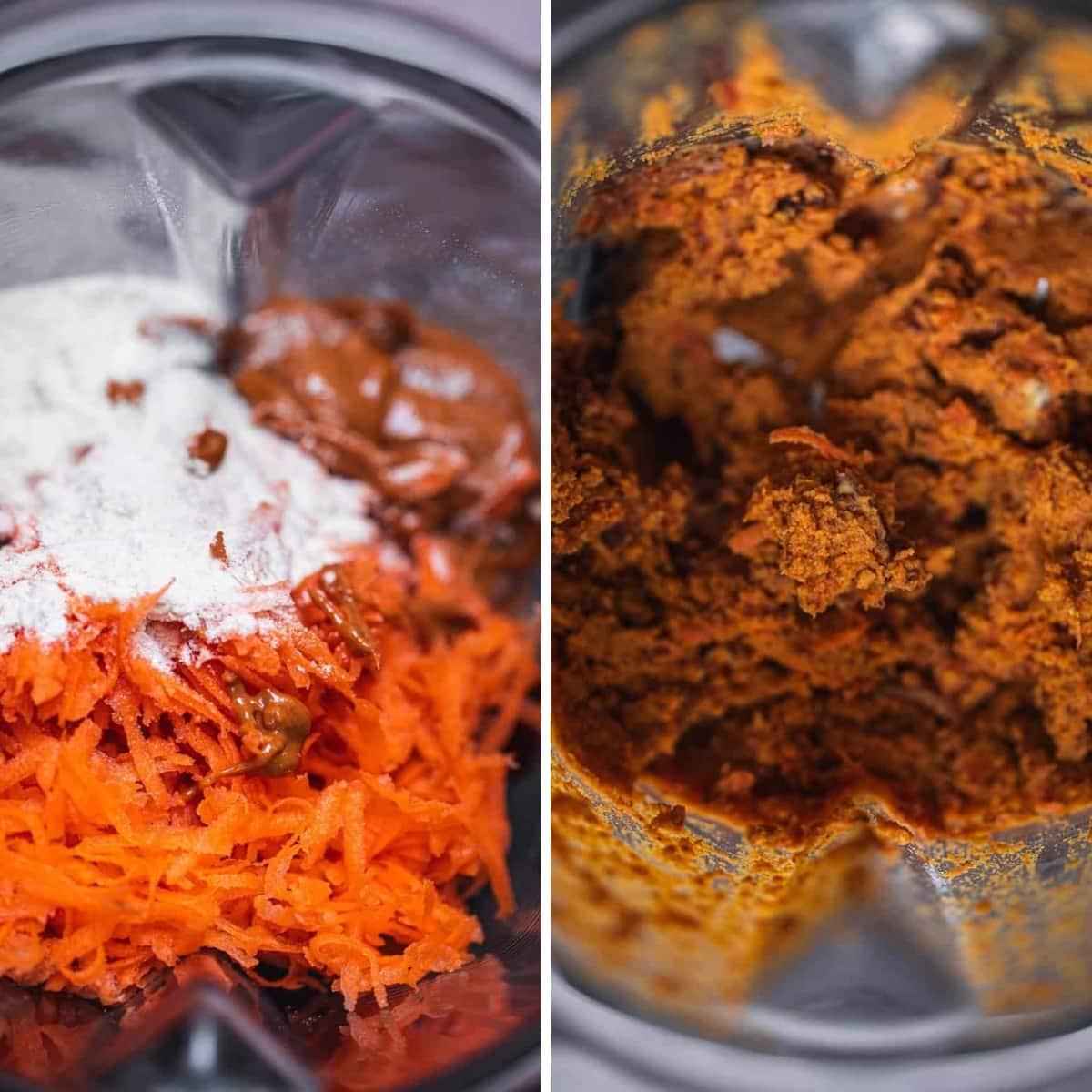 bolas de bliss de pastel de zanahoria vegano