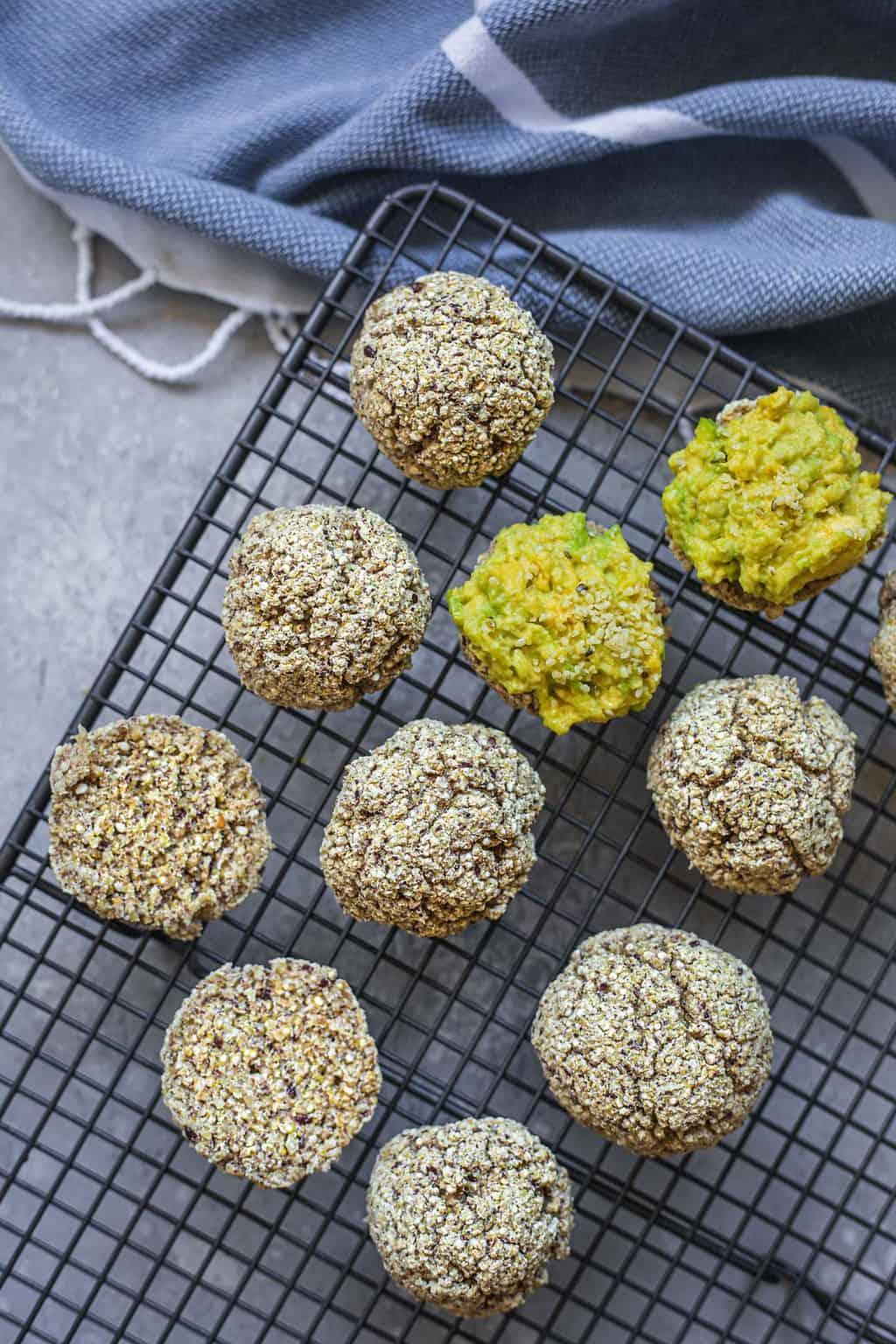 panecillos de quinua veganos sin gluten