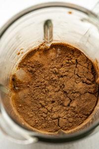 creamy and delicious vegan chocolate shake