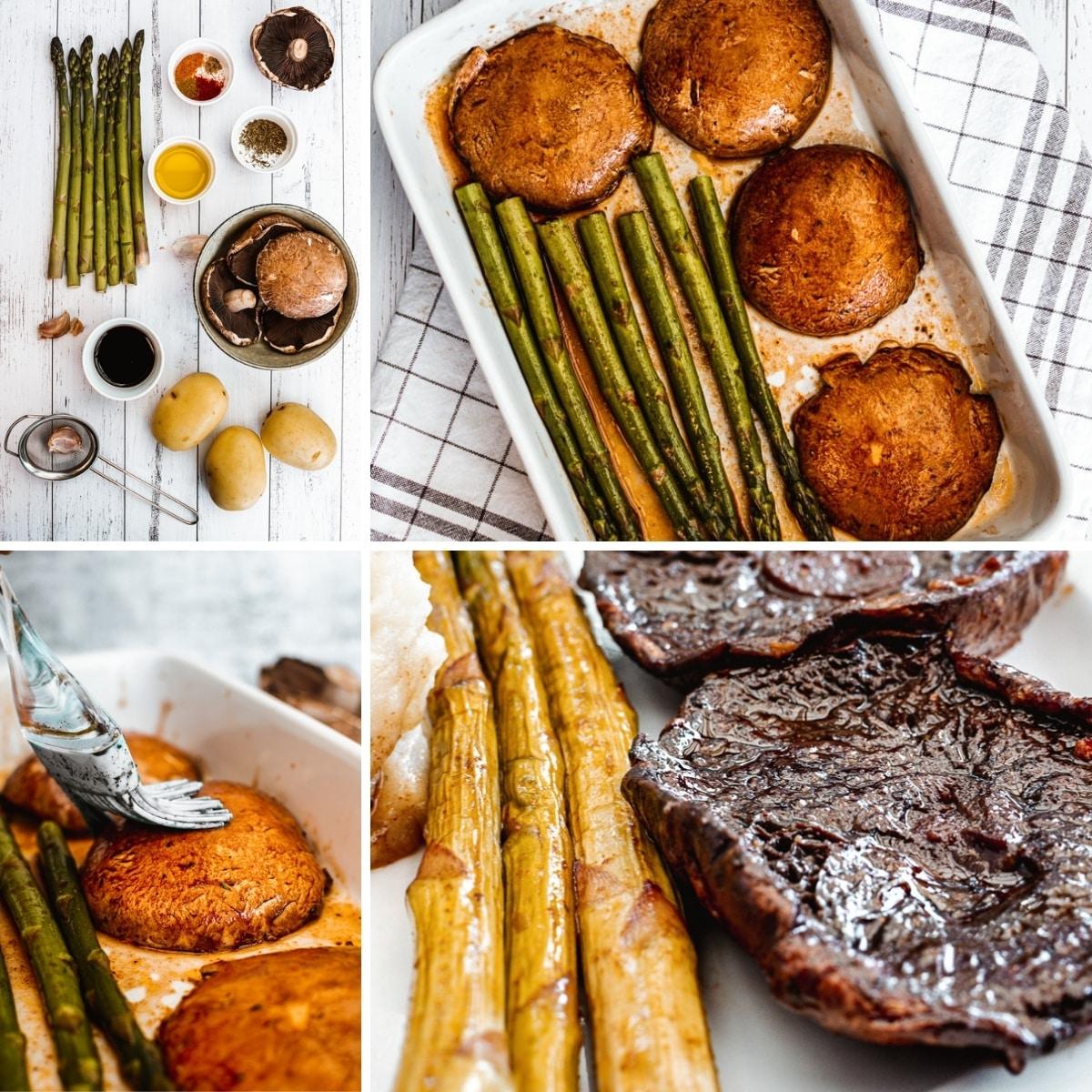 how to make portobello mushroom steak collage