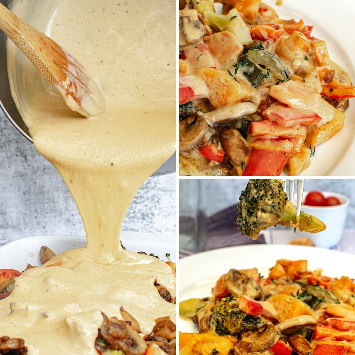how to make vegan cheese sauce collage